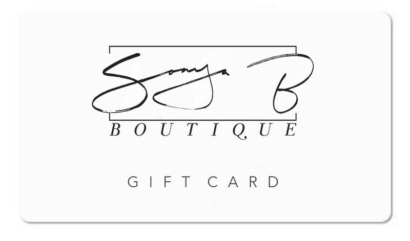 Sonya B Boutique Gift Card